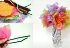 Spring Craft: Tissue Paper Flowers