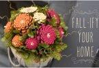 DIY Pinecone Mums Flower Arrangement Tutorial